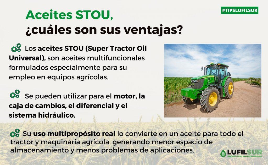 Los aceites STOU ofrecen altas prestaciones en maquinaria agricola